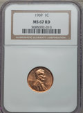 Lincoln Cents: , 1969 1C MS67 Red NGC. NGC Census: (19/0). PCGS Population (14/0). Numismedia Wsl. Price for problem free NGC/PCGS coin in ...
