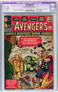 Silver Age (1956-1969):Superhero, The Avengers #1 (Marvel, 1963) CGC Apparent FN/VF 7.0 Slight (A)Cream to off-white pages....