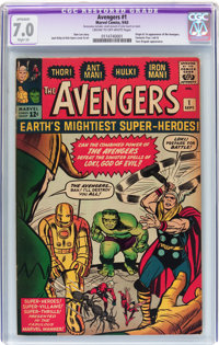 The Avengers #1 (Marvel, 1963) CGC Apparent FN/VF 7.0 Slight (A) Cream to off-white pages