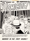 "Original Comic Art:Complete Story, John Alton War Against Crime! #9 Complete 9 Page Story ""Homicide!"" Original Art (EC, 1949).... (Total: 9 Original Art)"