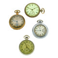 Timepieces:Pocket (post 1900), A Lot Of Four Pocket Watches. ... (Total: 4 Items)