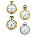Timepieces:Pocket (post 1900), A Lot Of Four 18 Size Pocket Watches For Parts Or Repair. ... (Total: 4 Items)