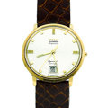 Timepieces:Wristwatch, Wyler Incaflex Superior 18k Gold Wristwatch. ...