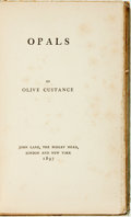 Books:Literature Pre-1900, Olive Custance. Opals. London: John Lane, The Bodley Head,1897. Octavo....