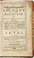 Books:World History, [History/Witch Trials]. A Full and Impartial Account of theDiscovery of Sorcery and Witchcraft Practis'd by Jane Wenham...