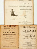 Books:Literature Pre-1900, [Theatre]. Group of Three Historical Plays. Includes: Tho[mas]Otway. Don Carlos Prince of Spain. London: 1695. [and:] N...