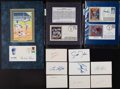 Baseball Collectibles:Others, 1950's-90's Pee Wee Reese, Enos Slaughter, Tony Perez and OthersSigned Index Cards & First Day Covers Lot of 13....