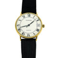 Timepieces:Wristwatch, Tourneau 18k Gold Wristwatch. ...