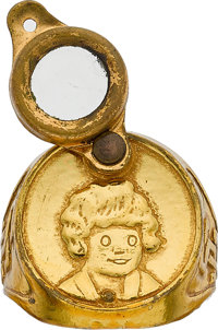 "Little Orphan Annie ""Secret Guard"" Magnifying Radio Ring (1941) Condition: VF"