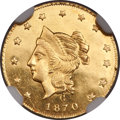 California Fractional Gold , 1870 $1 Liberty Round 1 Dollar, BG-1203, Low R.5, MS64 ProoflikeNGC....