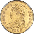 Early Half Eagles, 1809/8 $5 BD-1, High R.3 -- Improperly Cleaned -- NGC Details. Unc....