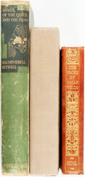 Books:Literature Pre-1900, [Literature]. Group of Three Books by English Authors. Includesworks by Oscar Wilde, Algernon Charles Swinburne, and Sachev...(Total: 3 Items)