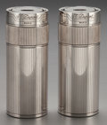 Silver Smalls:Cigar Lamps, TWO DUPONT SILVER-PLATED LIGHTERS IN ORIGINAL CASES, circa 1970.4-1/4 inches high (10.8 cm). ... (Total: 2 Items)