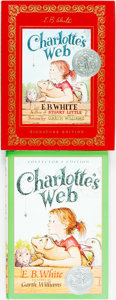 Books:Children's Books, E. B. White. Pair of Collector's Editions of Charlotte'sWeb. HarperCollins Publishers, [1999 and 2002].... (Total: 2Items)