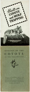 Books:Natural History Books & Prints, [Natural History]. Hints on Coyote and Wolf Trapping. [United States Government Printing Office, 1941]. Original... (Total: 2 )