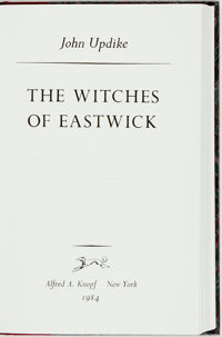 John Updike. SIGNED/LIMITED. The Witches of Eastwick. New York: Alfred A. Knopf, 198