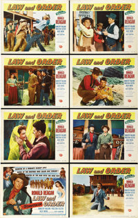 "Law and Order (Universal International, 1953). Lobby Card Set of 8 (11"" X 14""). ... (Total: 8 Items)"