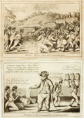Books:Prints & Leaves, [Featured Lot]. [Cartoons]. William Charles, cartoonist(1776-1820). Pair of Nineteenth Century Engravings. Includes: ...