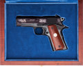 Handguns:Semiautomatic Pistol, Cased Colt USMC Officers Commencement Semi-Automatic Pistol....