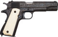 Handguns:Semiautomatic Pistol, Engraved Colt Government Model Semi-Automatic Pistol....