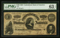 Confederate Notes:1864 Issues, Low Serial Number T65 $100 1864.. ...