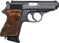 Handguns:Semiautomatic Pistol, Walther Model PPK Semi-Automatic Pistol in Leather Holster....