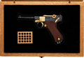 Handguns:Semiautomatic Pistol, Cased and Engraved DWM 1936 Dated Luger Semi-Automatic Pistol....