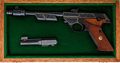 Handguns:Semiautomatic Pistol, Cased Engraved High Standard Model 102 Supermatic Citation Semi-Automatic Target Pistol AKA Space Gun....