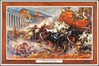 "Ben-Hur (MGM, 1959). Lobby Display (26.5"" X 38.5"") & Promotional Posters (3) (27.5"" X 41""). Acad..."