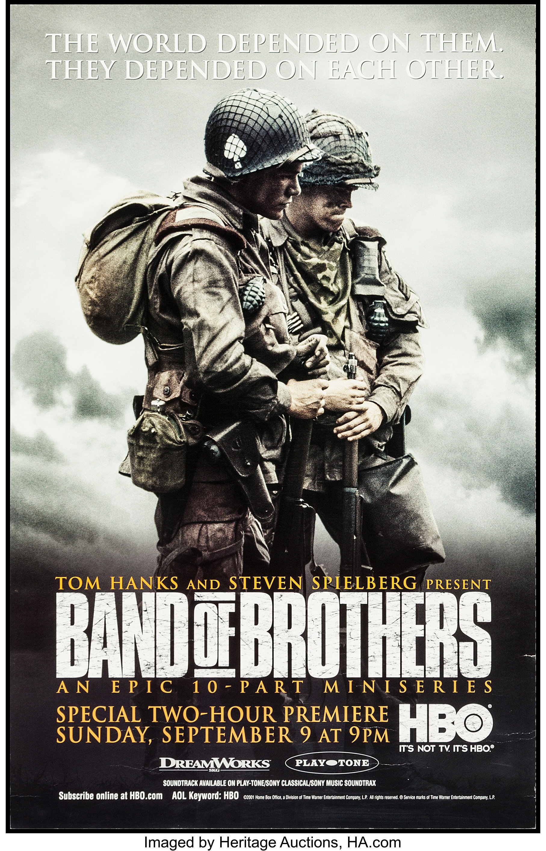"""Band of Brothers (HBO Films, 2001). Television Posters (3) (21"""" X ..."""