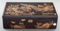 Asian:Japanese, A JAPANESE LACQUERED AND GILTWOOD LAP DESK, Meiji period. 5-1/2 x17-3/4 x 9-7/8 inches (14.0 x 45.1 x 25.1 cm). ...