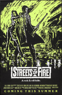 """Streets of Fire (Universal, 1984). One Sheets (5) (27"""" X 40"""") Advance Red, Purple, Green, & Orange Sty..."""