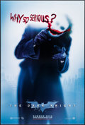 "Movie Posters:Action, The Dark Knight (Warner Brothers, 2008). One Sheet (27"" X 40"") DSAdvance Style A, ""Why So Serious?"" Action.. ..."