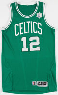 Basketball Collectibles:Uniforms, 2010-11 Von Wafer Game Worn Boston Celtics Jersey - SnowflakeHoliday Jersey....