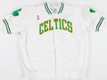 Basketball Collectibles:Uniforms, 1993 Acie Earl Game Worn, Signed Boston Celtics Warm Up Jacket....