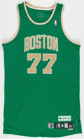 Basketball Collectibles:Uniforms, 2010-11 Sasha Pavlovic Game Worn Boston Celtics Jersey - St.Patty's Day Jersey....