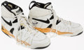 Basketball Collectibles:Others, Circa 1994 Brad Lohaus Game Worn Signed Shoes. ...