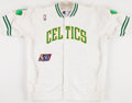 Basketball Collectibles:Uniforms, 1996-97 Todd Day Game Worn Boston Celtics Warm Up Jacket....