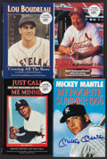 Baseball Collectibles:Publications, Baseball Greats Signed Hardcover Books Lot of 4....