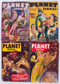 Pulps:Science Fiction, Planet Stories Group (Fiction House, 1945-54) Condition: AverageGD/VG.... (Total: 10 Comic Books)