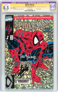 Modern Age (1980-Present):Superhero, Spider-Man #1 Platinum Edition - Signature Series (Marvel, 1990)CGC Apparent VF+ 8.5 Slight (A) White pages....