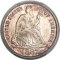Seated Dimes, 1887-S 10C MS67 PCGS....