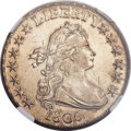 Early Half Dollars, 1806 50C Pointed 6, No Stem AU55 NGC. O-109, R.1....