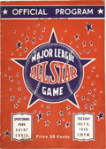 Autographs:Others, 1940 National League All-Star Team Signed Program. One pre-war autograph hound illustrated his allegiance to the Senior Cir...