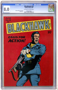 Golden Age (1938-1955):War, Blackhawk #19 (Quality, 1948) CGC VF 8.0 Off-white to white pages....