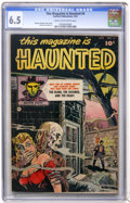 Golden Age (1938-1955):Horror, This Magazine Is Haunted #4 (Fawcett, 1952) CGC FN+ 6.5 Cream tooff-white pages....