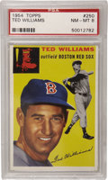 Baseball Cards:Singles (1950-1959), 1954 Topps Ted Williams #250 PSA NM-MT 8. Experienced collectorsknow that the first and last cards in vintage issues are a...