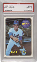 Baseball Cards:Singles (1960-1969), 1969 Topps Nolan Ryan #533 PSA Mint 9. Only a single example of the Strike Out King's sophomore card has achieved a Gem Min...