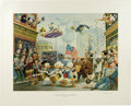 """Original Comic Art:Miscellaneous, Carl Barks - """"July Fourth in Duckburg"""" Regular Edition Lithograph #4/350 (Another Rainbow, 1998). ..."""