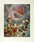 "Original Comic Art:Miscellaneous, Carl Barks - ""Afoul of the Flying Dutchman"" Regular EditionLithograph #4/345 (Another Rainbow, 1985). ..."